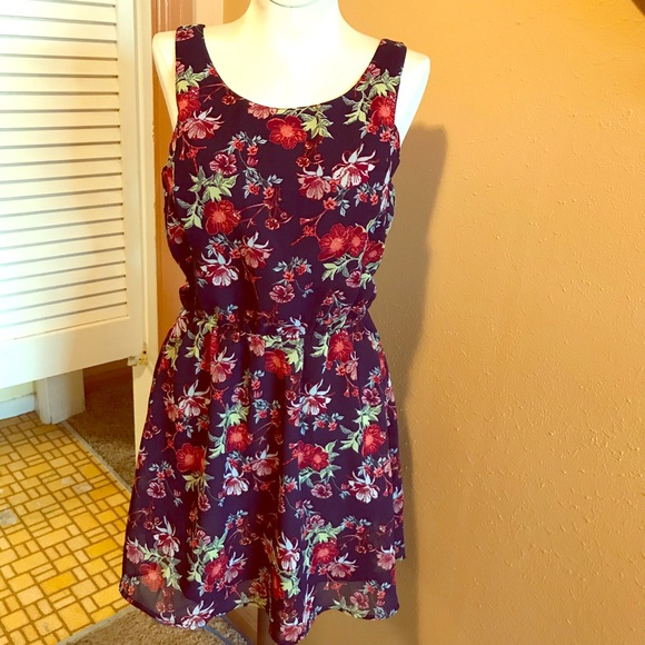 e274a85e66 Hm Divided Dress 8 Open Back Mini Navy Lined